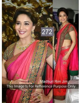 Bollywood Replica - Madhuri Dixit in Red Chiffon & Georgette Wedding Wear Saree - 272