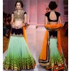 Bollywood Designer Green Padding Lehenga Replica - 5163 OM-9025