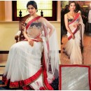 Bollywood Replica - Deepika Padukone White Net Designer By Sabyasachi Saree - 1103