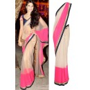 Bollywood Replica - Jacqueline Fernandez Cream & Pink Net Designer Saree 1111