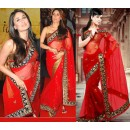Bollywood Replica - Kareena Kapoor Red Net Designer Saree D No.1308
