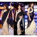 Bollywood Replica - Madhuri Dixit Black Beige Half Half Designer Saree D No.1359