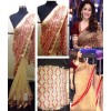 Bollywood Replica - Madhuri Dixit Golden And Red Work Beige Designer Saree D No.1339