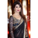 Bollywood Replica: Priyanka Chopra Black Saree at the Marrakech Film Festival - 224 (CM-Vol-4)