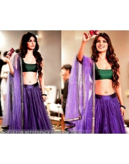 Bollywood Replica - Priyanka Chopra Purple Net Lehenga - 1113