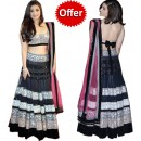 Striking Hot Alia Bhatt Bollywood Black Lehenga Replica