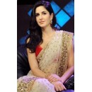 Xclusive! Katrina Kaif Jab Tak Hai Jaan Promo White Embroidery Work Saree D.No.1361