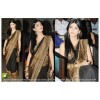Bollywood Replica - Shruti Hasan Designer Black Georgette Party Wear Saree - TM-45 ( TM-4 )