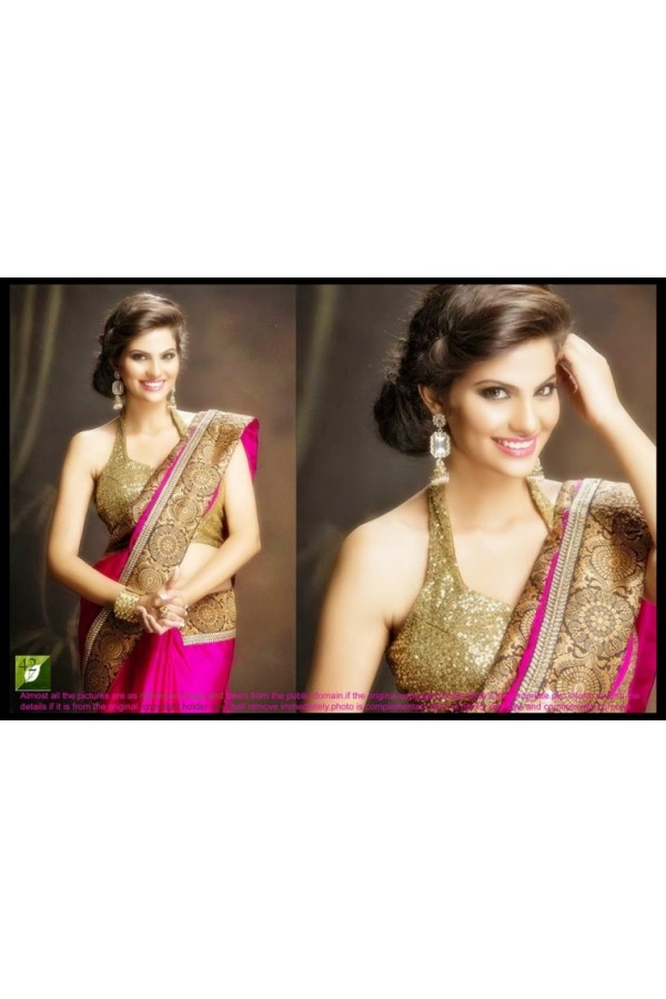 PARTY WEAR LATEST BOLLYWOOD REPLICA SAREE -  TM-42