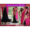 Bollywood Replica - Designer Black & Pink Georgette Saree - 9707