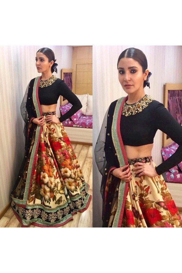 Bollywood Style - Anushka Sharma In Designer Multi-Colour Lehenga Choli  - 7006