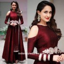 Bollywood Inspired - Party Wear Maroon Silk Gown - AB-73Maroon