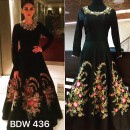 Bollywood Inspired - Aditi Rao In Designer Black Silk Gown  - BSW 436