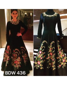 631f09b7d2 Quick View Bollywood Inspired - Aditi Rao In Designer Black Silk Gown - BSW  436