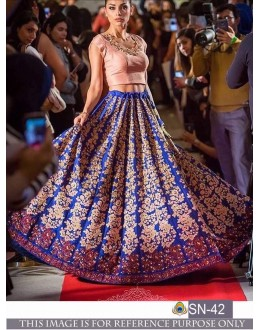 Bollywood Style - Party Wear Blue Embroidered Lehenga Choli - SN-42