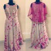 Bollywood Inspired - Ready To Wear Magenta & Grey Gown  - VS112