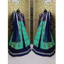 Bollywood Inspired  -Wedding Wear Green & Blue Indo-Western Suit - bs-03-1