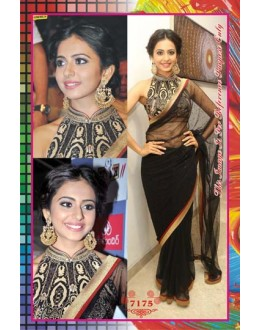 Bollywood Replica - Rakul Preet Designer Black Net Party Wear Saree - 7175
