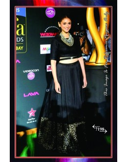 Bollywood Replica -  Aditi Rao In Black Georgette Party Wear Lehenga Choli  - 7198