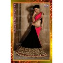 Bollywood Replica -  Designer Pink & Black Georgette Half & Half Party Wear Saree - 7236