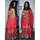 Bollywood Replica - Esha Gupta Net + Silk Georgette Pink Lehenga - 400 ( SIA-400 )