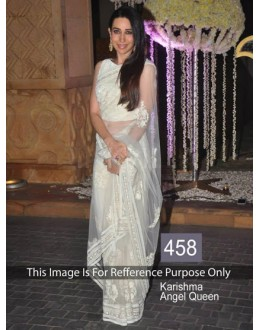 Bollywood Replica-Karishma Kapoor Designer Fancy White Party Wear Saree-458(SIA-400)