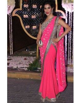 Bollywood Replica-Sophie Chaudhary Designer Pink Georgette Party Wear Saree-467(SIA-400)