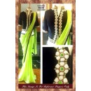 Bollywood Replica- Black and Neon Green Designer Saree- 7038 (Sia-7000)