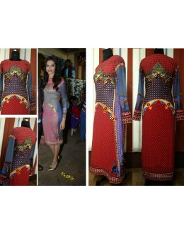 Bollywood Replica-Deepika Padukone In Designer Multi Color Georgette Suit -7120 ( SIA -S-7000 )