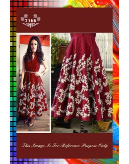Bollywood Replica-Designer Maroon Embroidered Banglori Silk Party Wear Dress-7166 ( SIA -S-7000 )