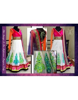Bollywood Replica-Designer Multi-Colour Ethnic Traditional Long Anarkali Suit-7055( SIA-7000 )