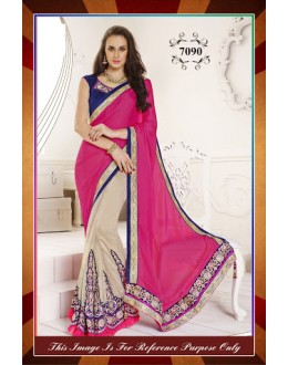 Bollywood Replica-Designer Pink & Grey Sraee-7090 ( SIA -S-7000 )