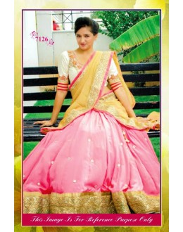 Bollywood Replica-Designer Pink & White Georgette Embroidered Lehenga Choli-7126 ( SIA -S-7000 )