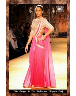 Bollywood Replica-Designer Pink Georgette Party Wear Saree-7000 ( SIA -S-7000 )