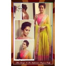 Bollywood Replica-Esha Gupta In Designer Lime Yellow & Pink Silk Party Wear Lehenga-7076 ( SIA -S-7000 )