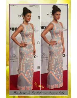 Bollywood Replica-Priyanka chopra Designer Light Grey Gown-7122( SIA -S-7000 )