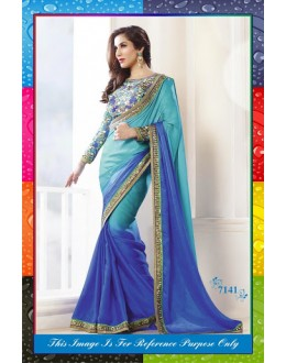 Bollywood Replica-Sophie Chaudhary In Designer Shaded Blue Saree-7141 ( SIA -S-7000 )