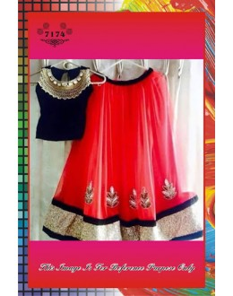 Bollywood Replica -  Wedding Wear Designer Pink & Black Net & Velvet Lehenga Choli  - 7174
