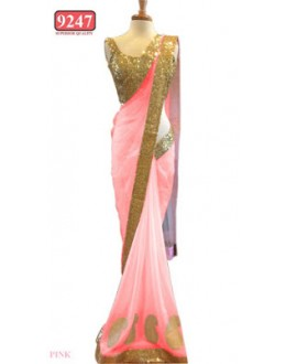 Bollywood Replica- Designer Baby Pink Colour Net Fancy Party Wear Saree-9247-G(SIA-S-9200)