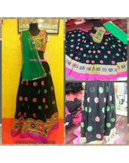 Bollywood Replica-Designer Black Embroidered Georgette Traditional Lehenga Choli-9205( SIA -S-9200 )