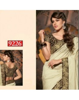 Bollywood Replica-Designer Cream & Black Jacquard Party Wear Saree-9226(SIA-S-9200)