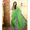 Bollywood Replica-Designer Embroidered Green Georgette Party Wear Saree-9250(SIA-S-9200)