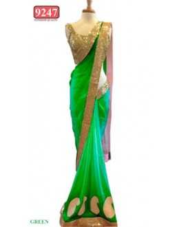 Bollywood Replica- Designer Green Colour Net Fancy Party Wear Saree-9247-D(SIA-S-9200)