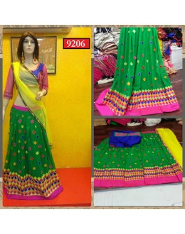 Bollywood Replica-Designer Green Embroidered Georgette Traditional Lehenga Choli-9206( SIA -S-9200 )