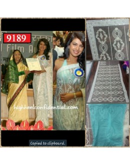 Bollywood Replica-Priyanka Chopra Designer Sky Blue Net Party Wear Saree-9189( SIA -S-9200 )
