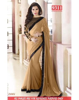 Bollywood Replica-Sophie Chaudhary Designer Beige Georgette Party Wear Saree-9311-B(SIA-S-9200)