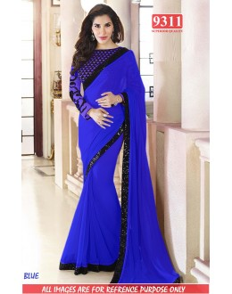 Bollywood Replica-Sophie Chaudhary Designer Blue Fancy Georgette Party Wear Saree-9311(SIA-S-9200)