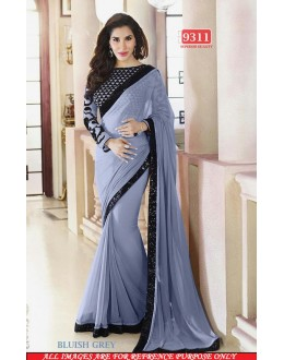 Bollywood Replica-Sophie Chaudhary Designer Bluish Grey Georgette Party Wear Saree-9311-A(SIA-S-9200)