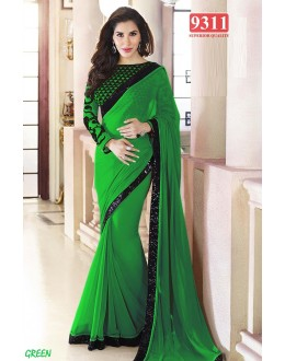 Bollywood Replica-Sophie Chaudhary Designer Green Georgette Party Wear Saree-9311-D(SIA-S-9200)