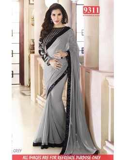 Bollywood Replica-Sophie Chaudhary Designer Grey Georgette Party Wear Saree-9311-E(SIA-S-9200)